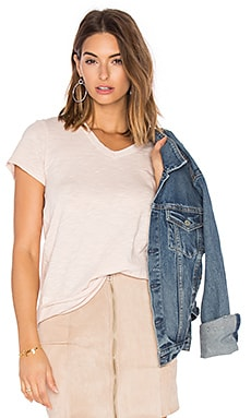 Slub Shrunken Mock Hem Tee en Willow