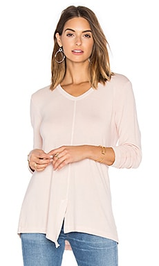 Split Slouchy Long Sleeve Tee in Willow