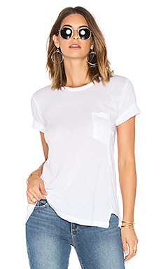 Darted Pocket Whisper Tee en Blanc