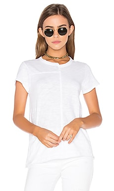 Slub Shifted Baby Tee in White