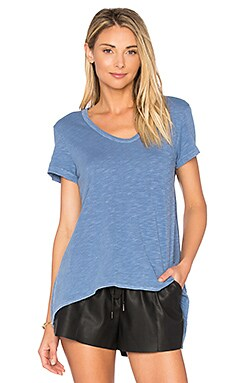 Shrunken Boyfriend Tee in China Blue