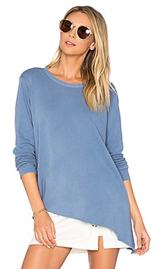 Slant Hem Foundation Top in China Blue