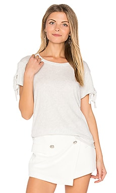 Tie Split Sleeve Tee in Oatmeal Heather