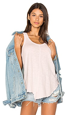 Shirttail Tank in Pink Salt
