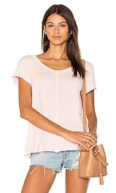 Extreme V Neck Tee in Pink Salt