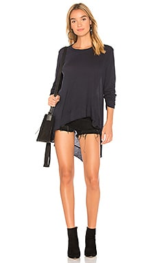 Asymmetrical Ruched Tunic Tee