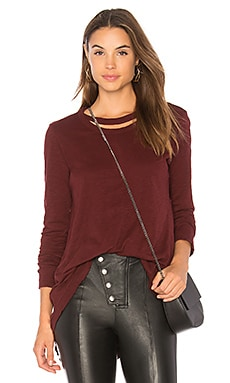 DOUBLE NECK SLOUCHY ロングスリーブトップ