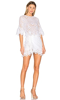 Valerie Wrap Dress in White