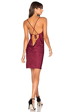 Claudie Backless Dress in Wine
