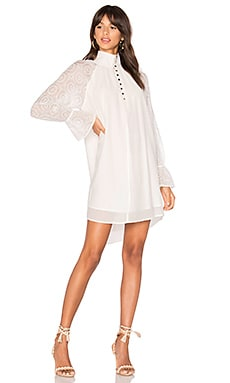 Aimee High Neck dress in White