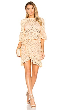 Valerie Wrap Dress in Apricot