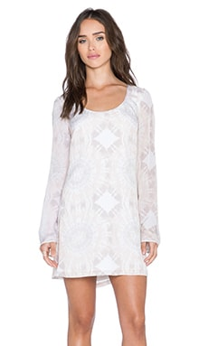 Winston White Bardot Dress in Cream Tie Dye