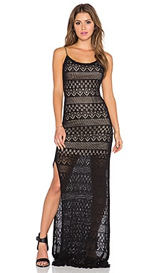 Winston White Dena Dress in Black Crochet