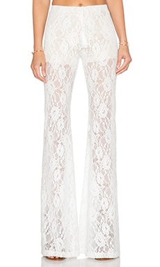 Winston White Rosanna Bell Bottom Pant in Cream Lace