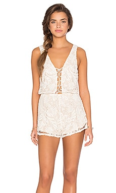 Winston White Carlo Romper in Shell
