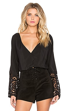 Winston White Lotus Top in Black