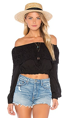Winston White Luciana Top in Black