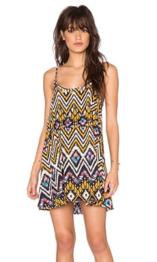 Wilde Heart Crossroads Swing Dress in Tribal Print