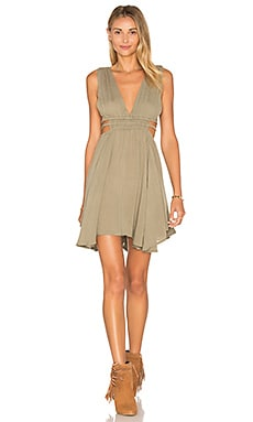 Lost in Lunar Cartel Dress in Khaki