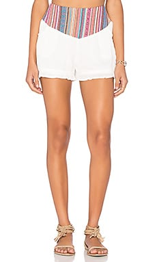 Wilde Heart Wanderlust Shorts in White