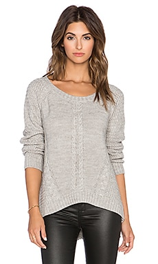 Wilde Heart High Wire Knit Sweater in Grey