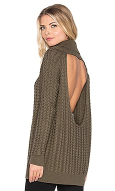 Wilde Heart Wild Card Open Back Knit In Khaki