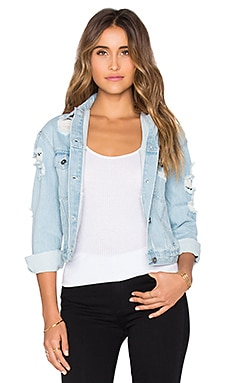 Wilde Heart All Torn For You Jacket in Denim