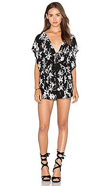 Lost in Lunar Flower Child Romper in Print