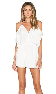 Wilde Heart Waterfall Pleated Romper in White