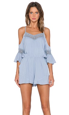 Wilde Heart Gypsy Warrior Romper in Blue Stone