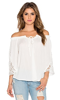 Wilde Heart Bohemian Dreamer Top in White