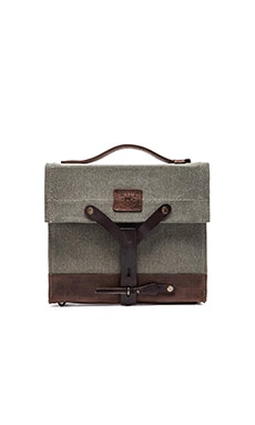 WILL Leather Goods Found Surplus Canvas Swiss Medic Bag in Olive & Brown