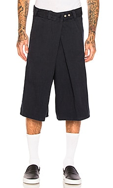 Fold Over Flat Front Shorts