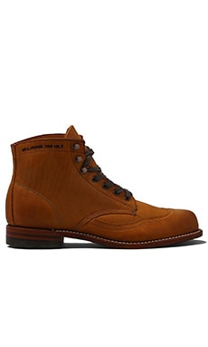 Wolverine 1000 Mile Addison Wingtip Boot in Tan