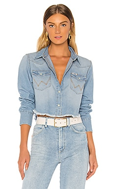 Crop Denim Shirt Wrangler $51