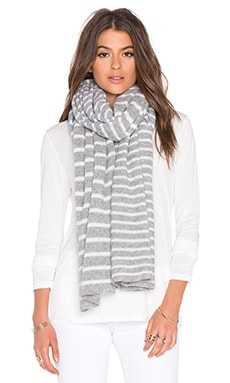Stripe Wrap in Grey & White