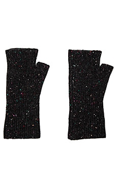 Rib Arm Warmers in Black Zenith Nep