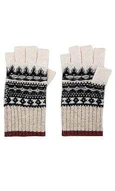 Fair Isle Fingerless Gloves White + Warren $121 NEW ARRIVAL