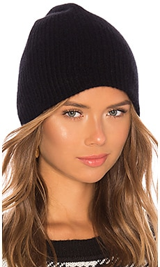 Cashmere Plush Rib Beanie White + Warren $145