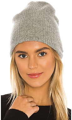 Cashmere Reversible Plush Rib Beanie White + Warren $160