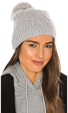Cable Beanie With Faux Pom White + Warren $47 (FINAL SALE)