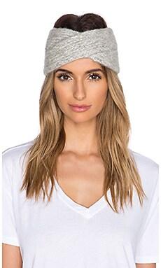 White + Warren Hand knit Headband in Grey & Pearl