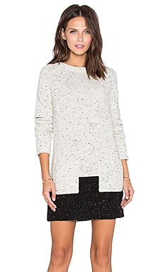 White + Warren Raglan Pocket Tunic in Bone & Black
