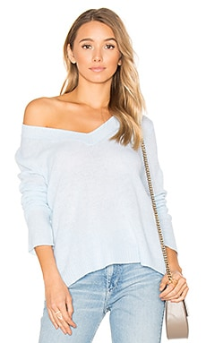 Swing V Neck Sweater en Seaspray Heather