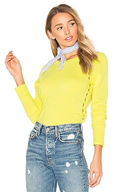 Crew Neck Sweater in Citron Heather