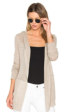 Hooded Cardigan in Sand Dune Heather