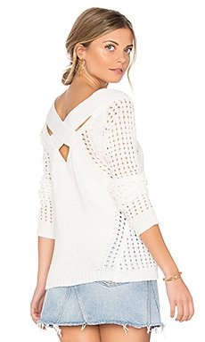 Cross Back Sweater in Ivory