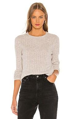 Slim Essential Crew Sweater White + Warren $298
