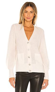 Cashmere Crystal Button Cardigan White + Warren $398