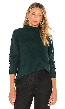 Luxe Textured Mockneck Sweater White + Warren $395